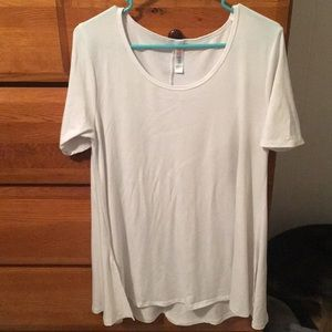 White Lularoe Perfect Tee